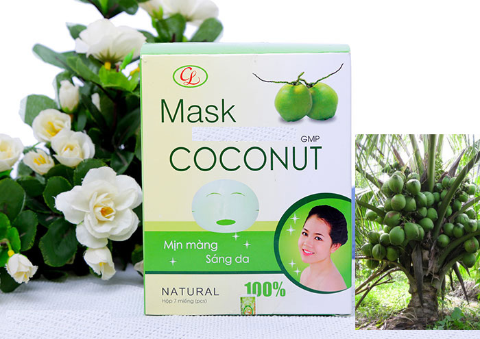 Hộp mặt nạ dừa - Mask from Coconut