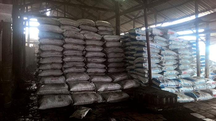 Than dừa đóng bao chuẩn bị xuất khẩu